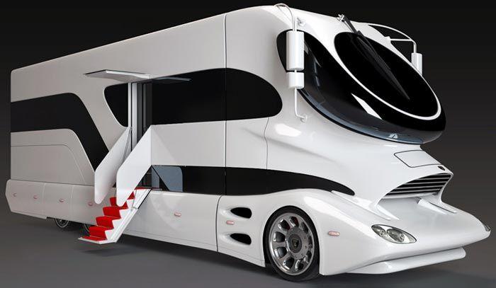 Multipliant les options, l'espace et les designs farfelus, ces camping-cars de luxe sont devenus l'apanage des fortunes américaines. Pour en savoir plus, un article sur le blog est consacré aux célébrités en camping-cars !  #campingcar #motorhome