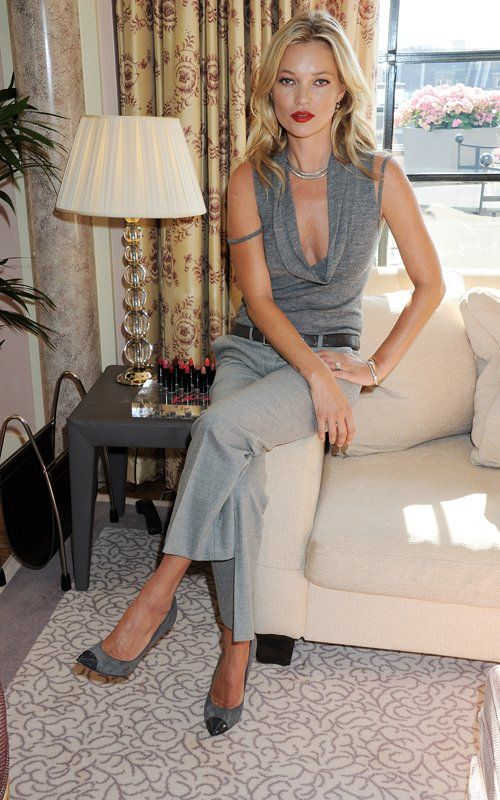 Kate Moss wearing Salvatore Ferragamo Fall 2011 Cap Toe Pumps.
