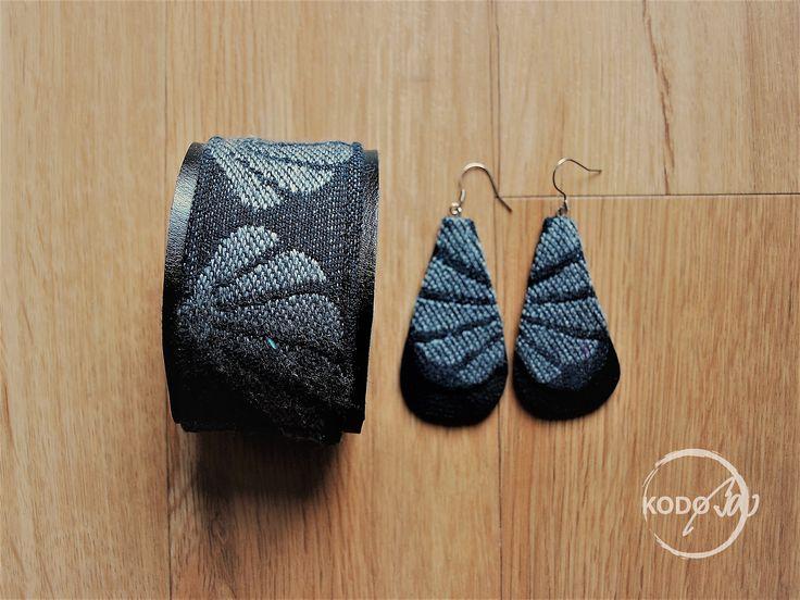 Omnifera Wings of Desire Dream Deeper wrap scrap bracelet and earings made by KodoBa #wrapscrap #Omnifera #KodoBa