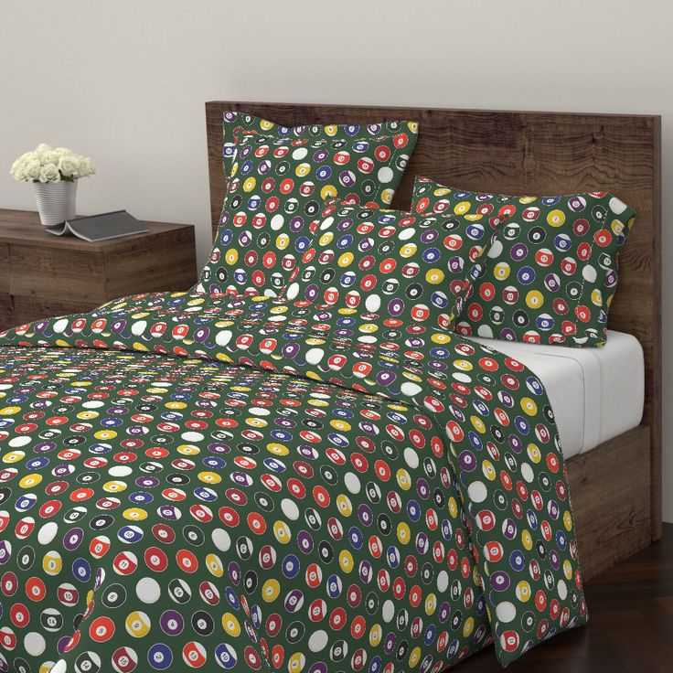 Wyandotte Duvet Cover featuring Pool Balls Billiards by jannasalak | Roostery Home Decor