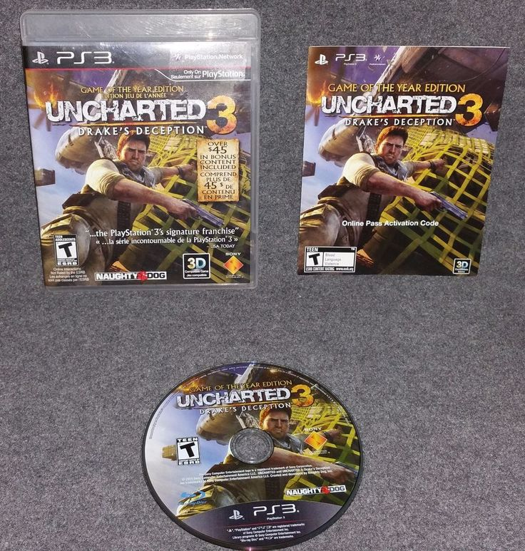Uncharted 3: Drake's Deception PS3 GOTY Action Adventure Third Person Shooter