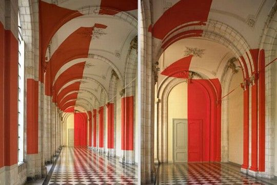 Geometric Perspective PaintingsAnamorphic Painting, Architecture Felicity, Artists Felicity, Art Studios, Anamorphic Art, Perspective Painting, Anamorphic Illusions, Felicity Varini, Swiss Artists