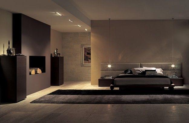 Mobili dalle forme squadrate - Arredare una stanza da letto in stile minimal nelle nuances del marrone.