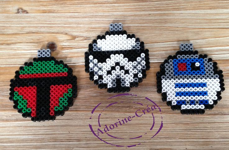Star Wars Christmas baubles hama perler beads by Adorine-crea