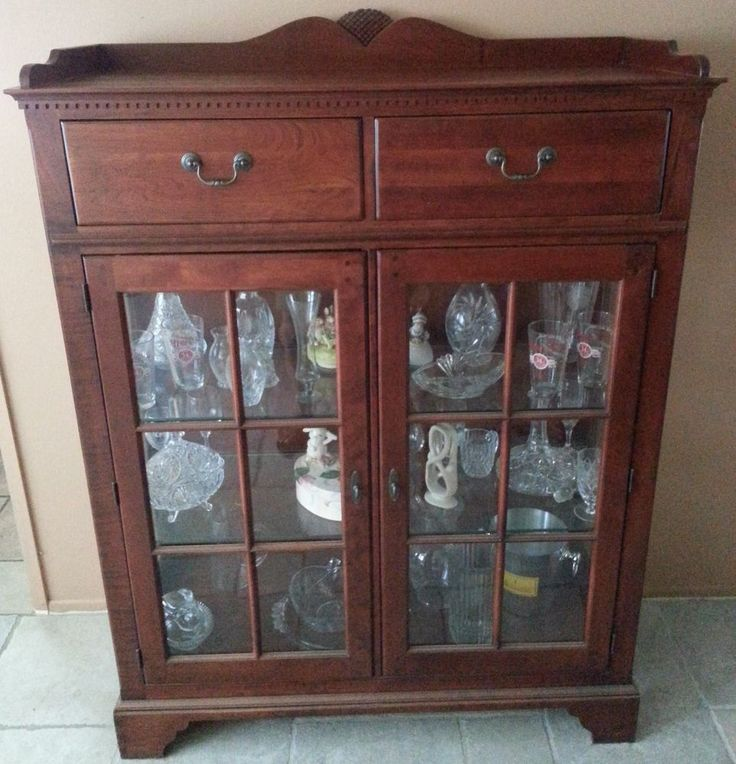 Lexington Bob Timberlake Cherry China/Display Cabinet 2 Door 2 Drawer  #Lexington