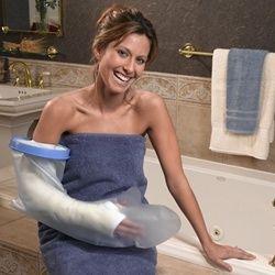 douchehoes om- Veilig douchen of baden met gips- gipsverband