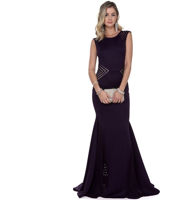 Yesenia Eggplant Prom Dress