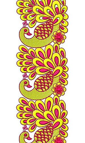 Peacock Art Lace Embroidery Design