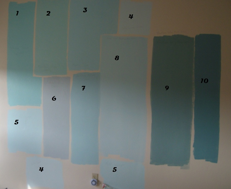 All Colors Are Valspar Painted From Sample Paint Which Is