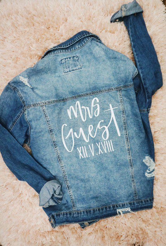 32a897e75 Custom Denim Jacket Mrs Denim Jacket Bride Denim Jacket | All the ...