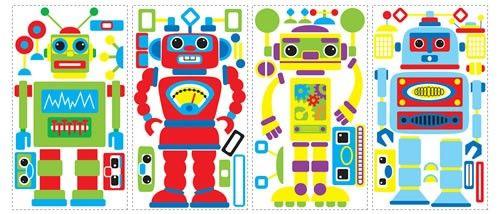 Build Your Own Robot Peel & Stick Applique