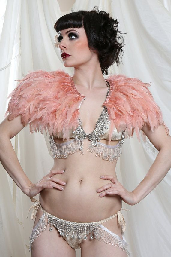 Pink Feather Cape by Talulahblueburlesque on Etsy