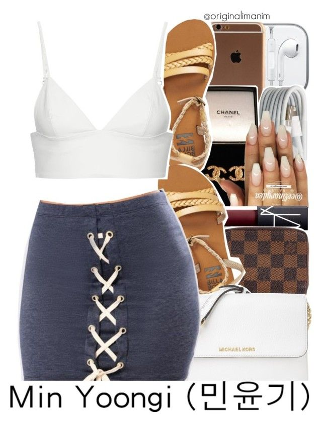 """06-23-2017."" by theimanimo ❤ liked on Polyvore featuring CO, Chanel, NARS Cosmetics, Louis Vuitton, Billabong, Michael Kors and T By Alexander Wang"
