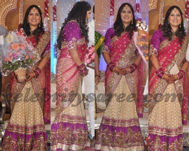 INDIAN RECEPTION OUTFITS  | Shiva wife Priya Reception Saree
