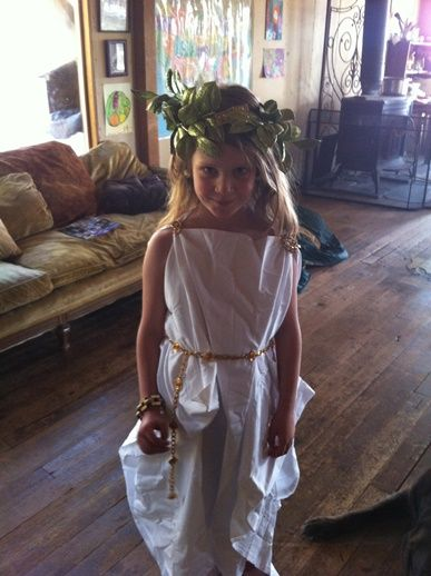 Creating a toga out of a sheet would make the perfect Halloween costume for your little Caesar.