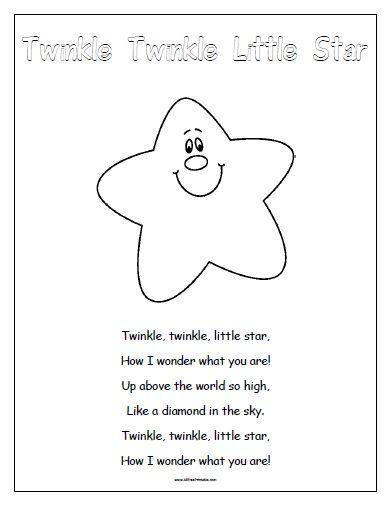 kids activity - Free Printable Twinkle Twinkle Little Star