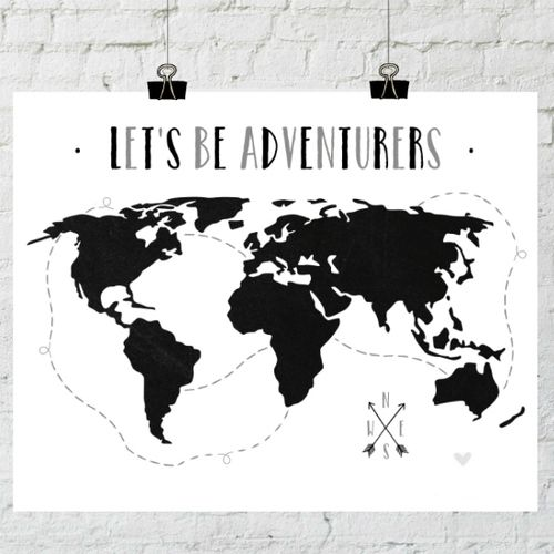 let's be adventurers black and white printable