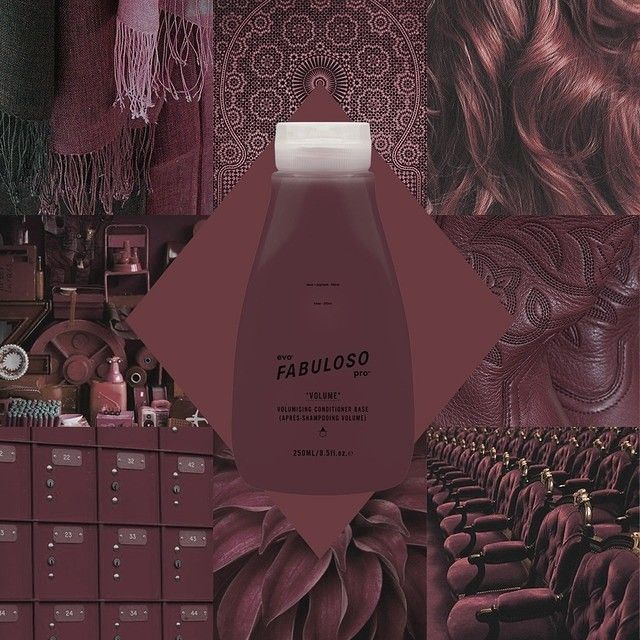 evo® fabuloso pro™ - dusty rose salon – 2g chocolate + 1g red + 1g violet + 16g conditioner retail - 230g retail conditioner base + 6g chocolate + 3g red + 3g violet + 8g conditioner #evo #fabulosopro #dustyrose