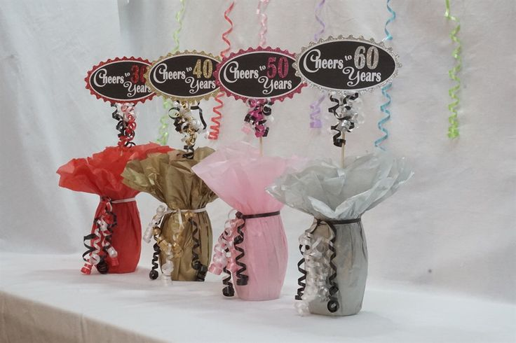 Cheers to 60 Years, 60th Birthday Centerpiece Sign,  Glitter Sign available in 4 colors, 60th Birthday Decoration, Over the Hill by EmbellishaBash on Etsy https://www.etsy.com/listing/464088091/cheers-to-60-years-60th-birthday