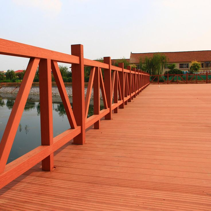 Pasarela de madera WPC, anti-corrosión y Anti-agrietamiento #wpc #wpcdeck #decking #outdoordecking #floor #outdoorflooring