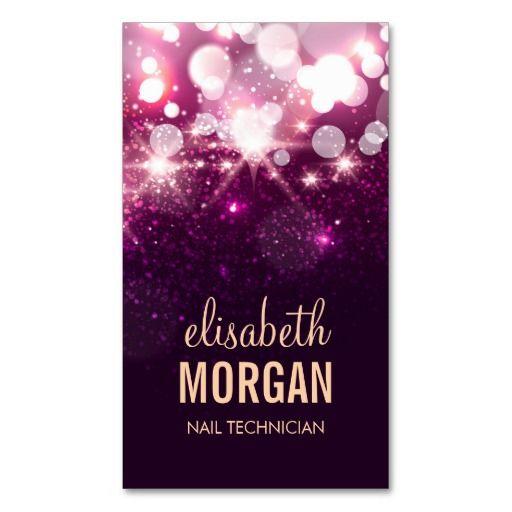 294 best manicurist business cards images on pinterest business nail technician pink glitter sparkles business card colourmoves