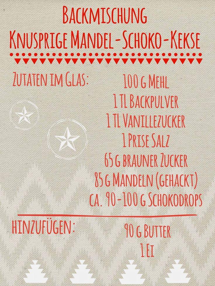 Backmischung im Glas: Knusprige Mandel-Schoko-Kekse