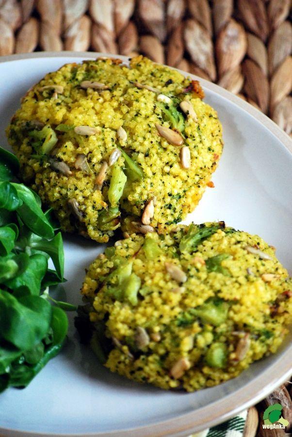 Kotlety z kaszy jaglanej i brokuła