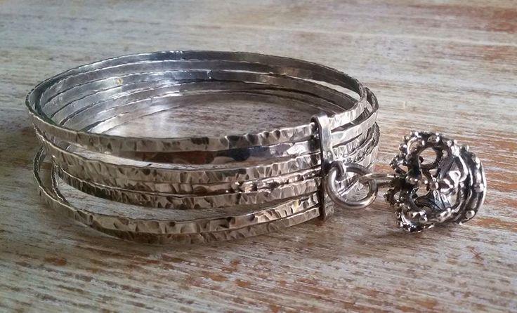 Bracciale schiava bagno argento lavorato a mano new collection