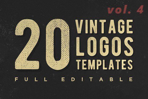 [vol. 4] Retro Classic Logotypes by Roman Paslavskiy on @creativemarket