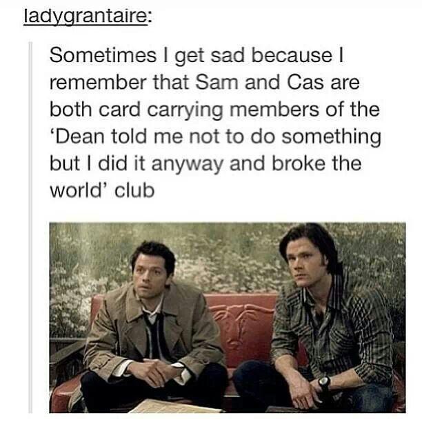 Dean knows best #supernatural