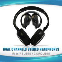 WIRELESS IR CORDLESS Dual Channel Headphone 2PAIRS