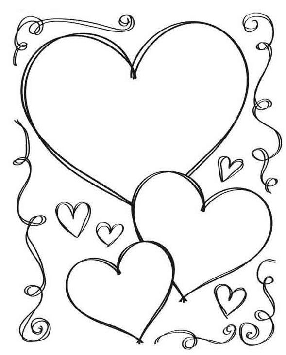 100 Pictures Of Hearts Heart Images Symbol Of Love Heart Coloring Pages Valentine Coloring Pages Valentine Coloring
