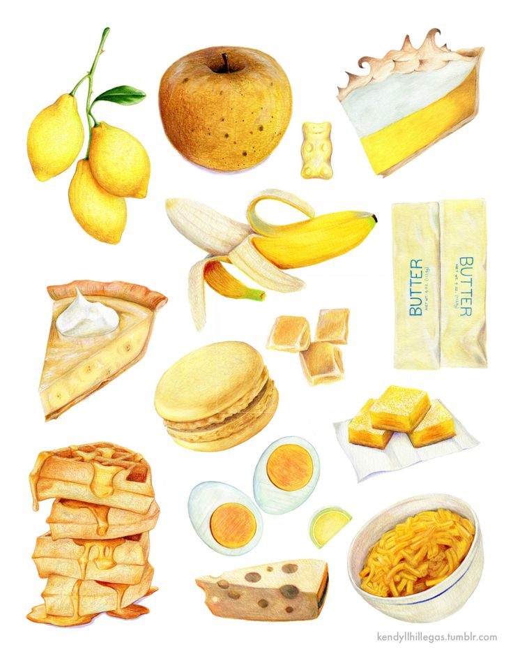 Illustration Kendyll Hillegas artists on tumblr food yellow