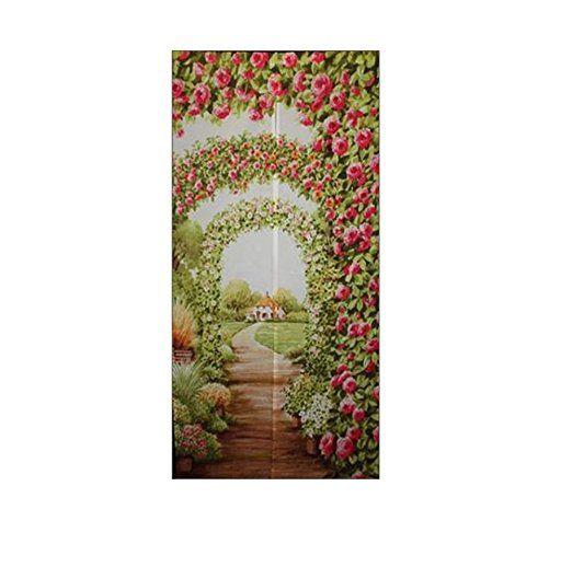 花々(hanahana) のれん ローズガーデン 85×170cm 21136