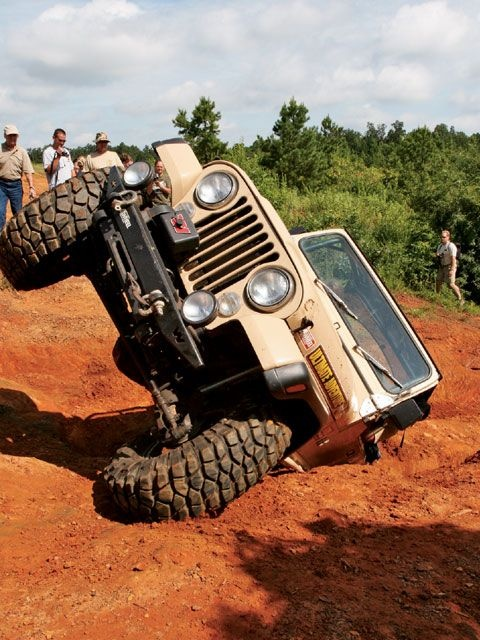 Jeep drivers must learn to drive during all angles of travel...