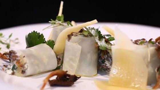 - Céleri-rave- Farce au fromage frais- Réalisation