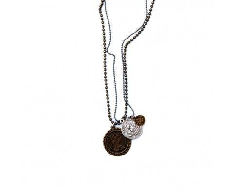 Mixed Coin Necklace - Bronze Coins