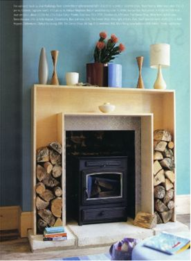 For anyone lucky enough to have a wood-burning fireplace. What a great idea. Wish I had ANY fireplace!!