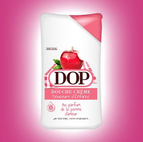 Douche crème au parfum de la pomme d'amour- Dop