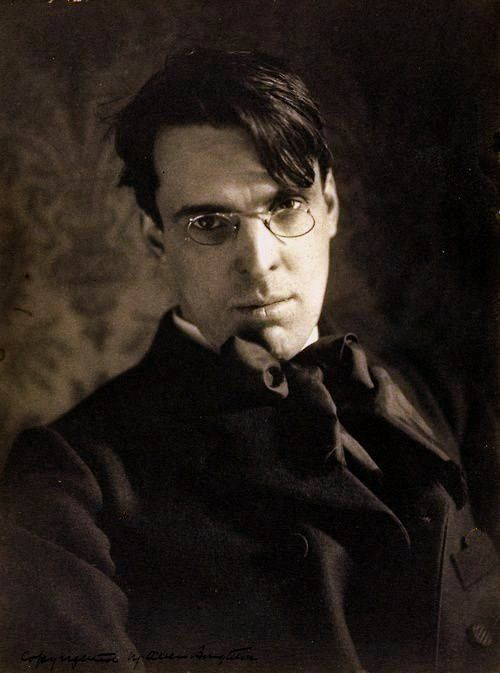 """William Butler Yeats, photograph by Alice Boughton, """"Being Irish, he had an abiding sense of tragedy, which sustained him through temporary periods of joy."""""""