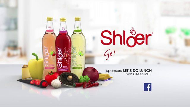 Cute bouncy 3d animated fruits and condiments,  in an ad campaign for Shloer on ITV