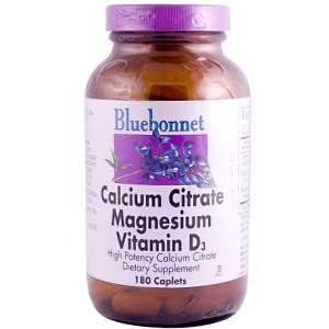Bluebonnet - Calcium Citrate Magnesium Vitamin D3 - 180 Caplets by Bluebonnet. Save 5 Off!. $19.95. Product specifications are obtained from vendor website, and while we make every effort to assure the accuracy of product information, we do not assume any liability for inaccuracies. Store ratings and product reviews are written and submitted by online shoppers to assist you as you shop. They do not reflect our opinions. We take no responsibility for the content of ratings and reviews…