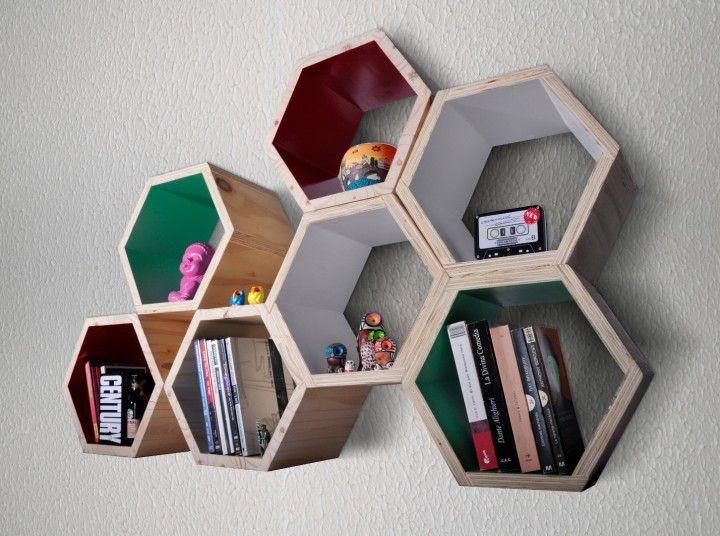Encontrá Estante Repisa Hexagonal modular desde $300. Decoración, Baño y más objetos únicos recuperados en MercadoLimbo.com.