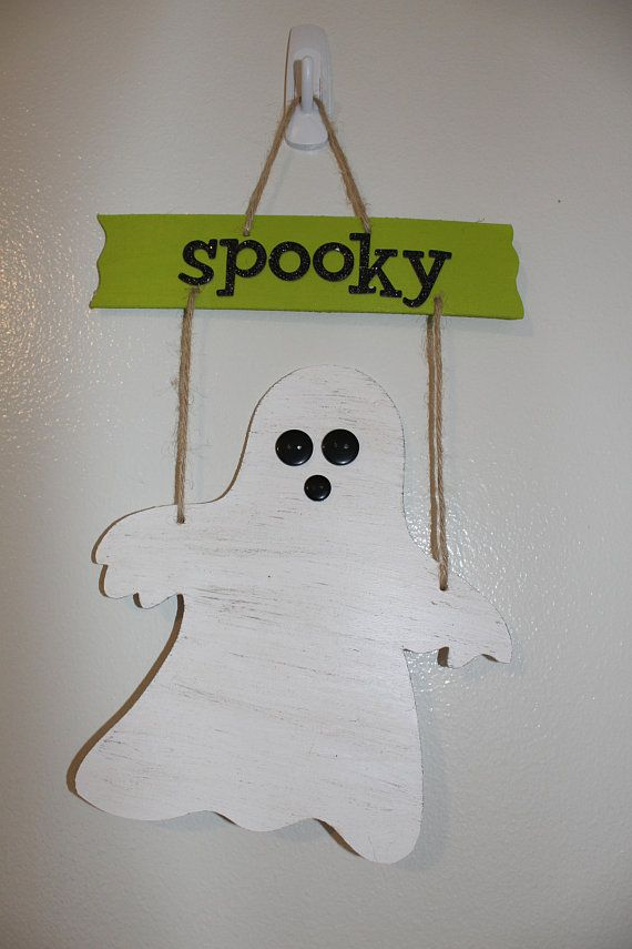 SPOOKY Ghost Decoration Ghost Decor Sign Halloween Ghost Decoration