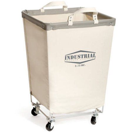 seville classics commercial heavyduty canvas laundry hamper with wheels