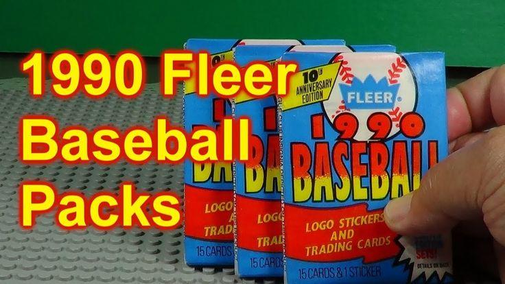 1990 fleer baseball cards opening 3 packs baseball cards