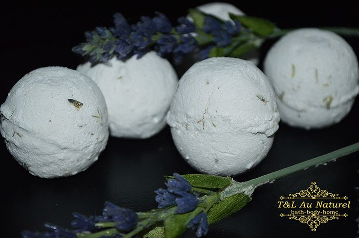 Little fizz balls that explode with fizziness when placed in the bath tub scented with beautiul Lavender essential oil and filled with Organic dried lavender.  Not only do they smell delicious & make bath time fun, but they also have a little blob of Shea Butter inside for silky soft skin!