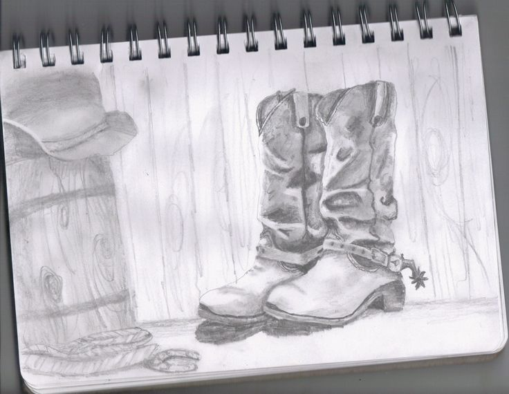 My Drawing Of Cowboy Boots Dream Inspire Create