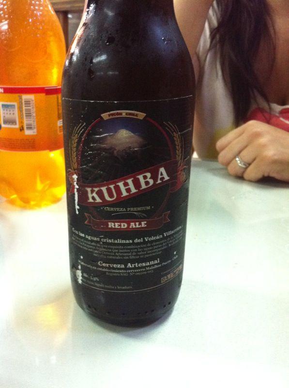 Cerveza Khuba - roja, mercado temuco
