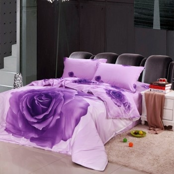 it is a beautiful flower bedding sets a big rose occupied the whole surface of